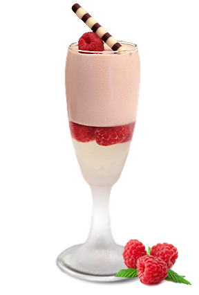 mousse with prosecco geleè